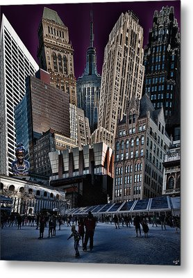 Bryant Park Collage Metal Print by Chris Lord