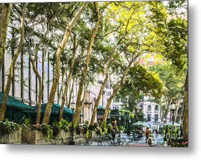 Bryant Park Midtown New York Usa Metal Print by Liz Leyden