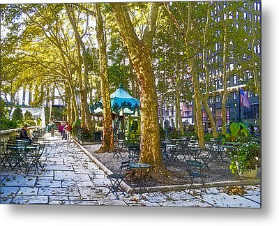 Bryant Park October Metal Print by Liz Leyden
