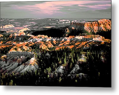 Bryce Canyon In Evening Light Metal Print
