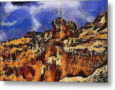 Bryce Canyon Thuderstorm Metal Print