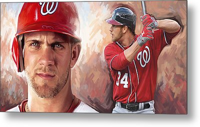 Metal Print featuring the painting Bryce Harper Artwork by Sheraz A