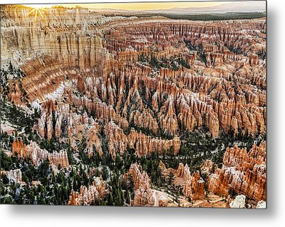 Bryce Point Sunset Metal Print by Harry H Hicklin