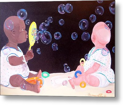 Bubble Babbies  Metal Print by Susan Roberts