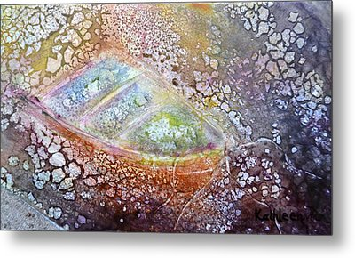Metal Print featuring the painting Bubble Boat by Kathleen Pio