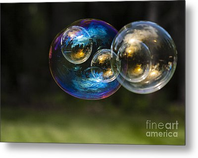 Bubble Perspective Metal Print by Darcy Michaelchuk