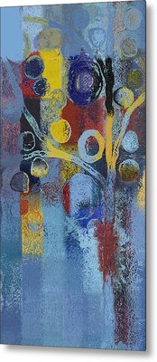 Bubble Tree - 7376106l Metal Print by Variance Collections