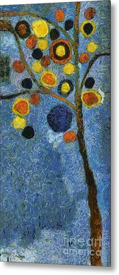 Bubble Tree - 8586v03l Metal Print by Variance Collections
