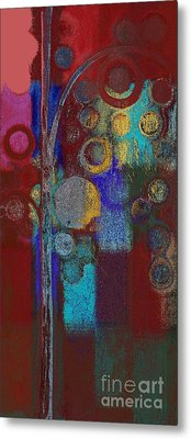 Bubble Tree - Rd01r Metal Print by Variance Collections