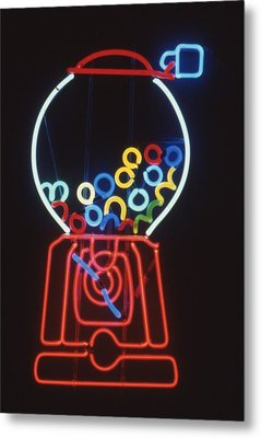 Bubblegum Machine Metal Print by Pacifico Palumbo