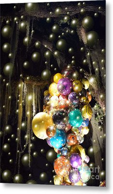 Bubbles And Balloons Metal Print by Edna Weber