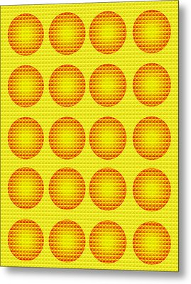 Bubbles Honeycomb Warhol  By Robert R Metal Print by Robert R Splashy Art Abstract Paintings