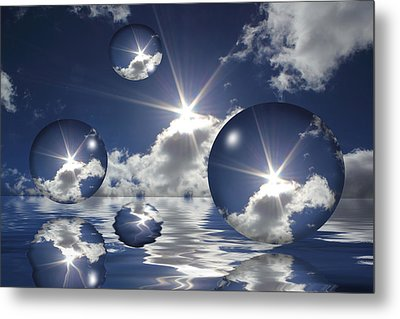 Bubbles In The Sun Metal Print by Shane Bechler