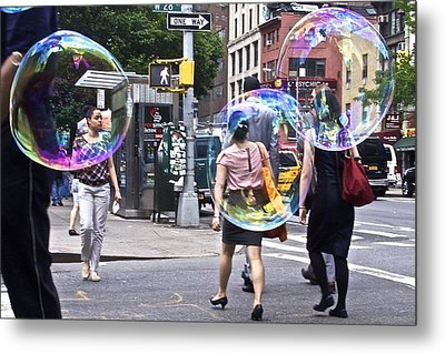 Bubblewalk Metal Print by Heidi Horowitz