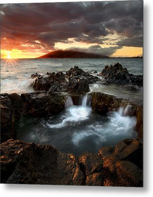 Bubbling Cauldron Metal Print by Mike  Dawson