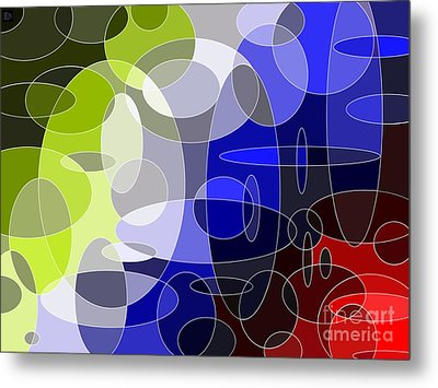 Bubbling Colours Metal Print