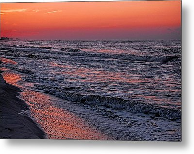 Metal Print featuring the digital art Bubbling Surf by Michael Thomas