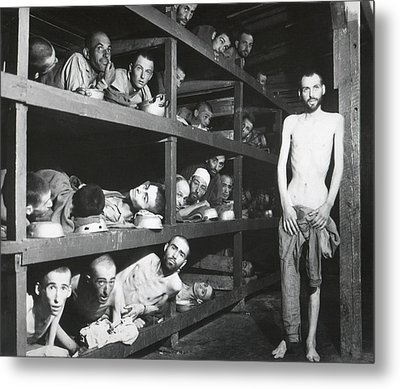 Buchenwald Concentration Camp Survivors Metal Print by Everett