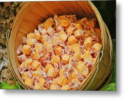 Metal Print featuring the photograph Bucket Of Taffy by Cynthia Guinn