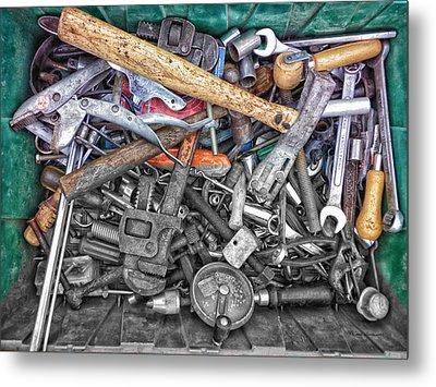 Bucket Of Tools Sc Metal Print by Thomas Woolworth