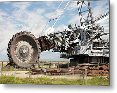 Bucket Wheel Syncrude Upgrader Plant Metal Print by Ashley Cooper