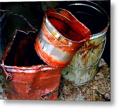Buckets Metal Print by David Gilbert