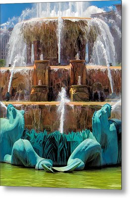 Buckingham Fountain Closeup Metal Print by Christopher Arndt