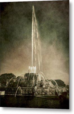 Metal Print featuring the photograph Buckingham Fountain - Grant Park - Chicago - Downtown by Photography  By Sai