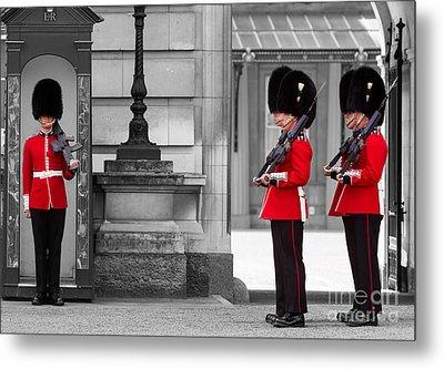 Buckingham Palace Guards Metal Print by Matt Malloy