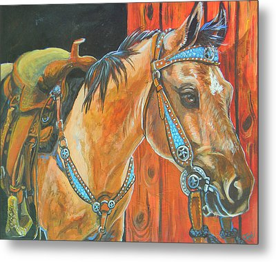 Buckskin Filly Metal Print