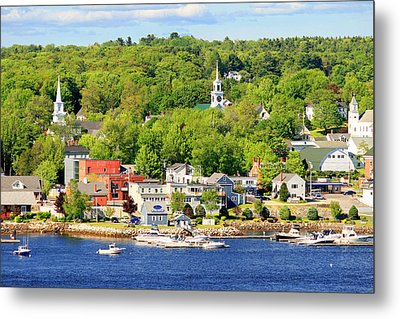 Metal Print featuring the photograph Bucksport Maine Waterfront by Barbara West