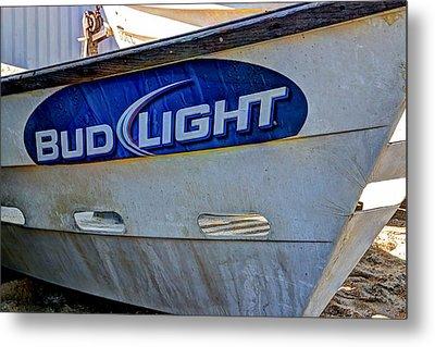 Bud Light Dory Boat Metal Print by Heidi Smith