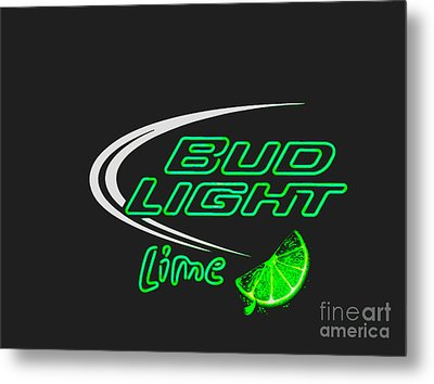 Bud Light Lime 2 Metal Print by Kelly Awad