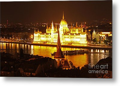 Budapest At Night Metal Print by Gregory Dyer