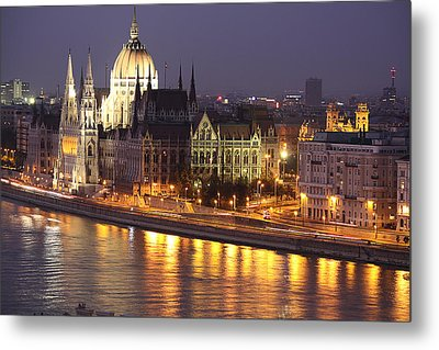 Budapest Parliament Buildings Metal Print