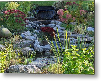 Metal Print featuring the photograph Buddha Water Pond by Brenda Brown