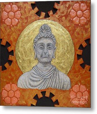 Buddha Metal Print by Anna Maria Guarnieri