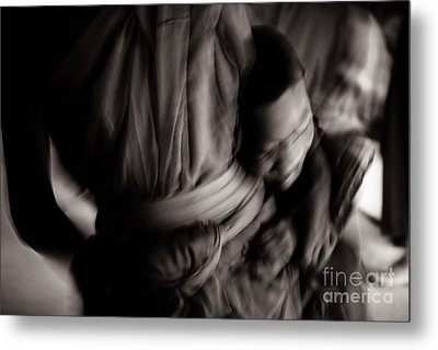 Buddha -boys Will Be Boys - Black And White Version Metal Print by Dean Harte