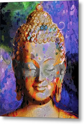 Metal Print featuring the painting Buddha by David Klaboe