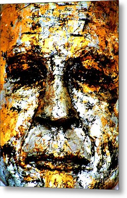 Metal Print featuring the photograph Buddha Face by Nola Lee Kelsey