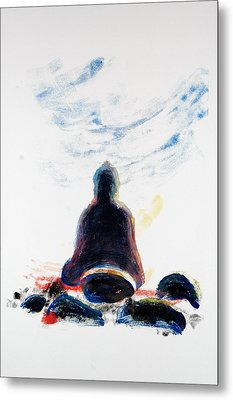 Buddha Fifty-one Metal Print by Valerie Lynch