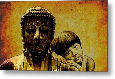 Buddha Girl Metal Print by Richard Tito