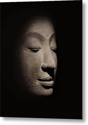 Buddha Head From The Early Ayutthaya Period Metal Print by Siamese School