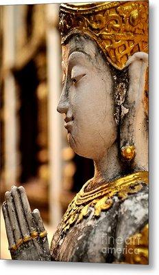 Buddha - Namaskara Mudra Metal Print by Dean Harte