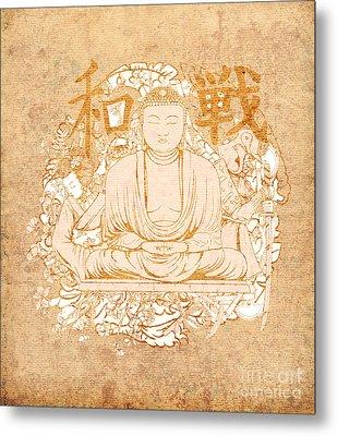 Buddha Painting Antique Metal Print