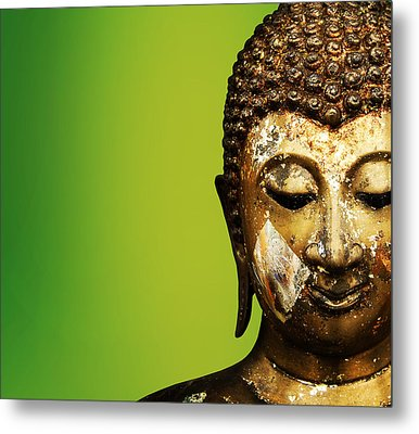 Buddha Portrait  Metal Print by Thanes