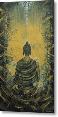 Buddha. Presence Metal Print by Vrindavan Das