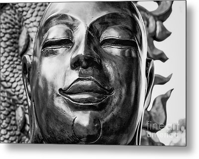 Buddha Smile Metal Print by Dean Harte