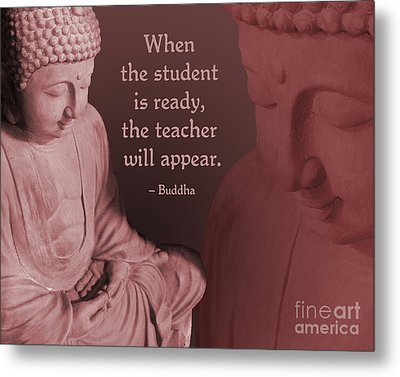 Metal Print featuring the painting Buddha Student Is Ready by Ginny Gaura