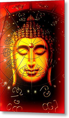 Buddha Metal Print by The Creative Minds Art and Photography